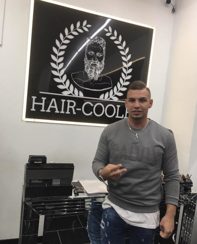 Pietro Lombardi im Hair-Cooles Friseursalon in Pforzheim